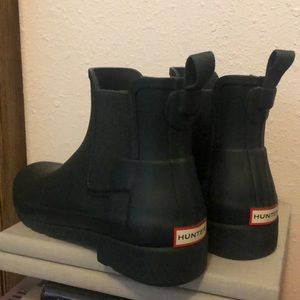 Hunter Green Mate Short Rain Boots